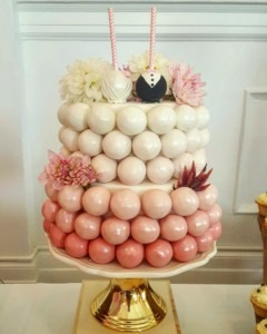 Pink Ombre Cake Pops Cake